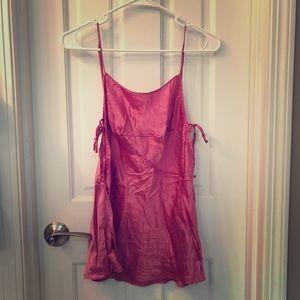 Victoria's Secret pink satin lingerie slip